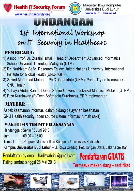 undangan workshop IT Health Security
