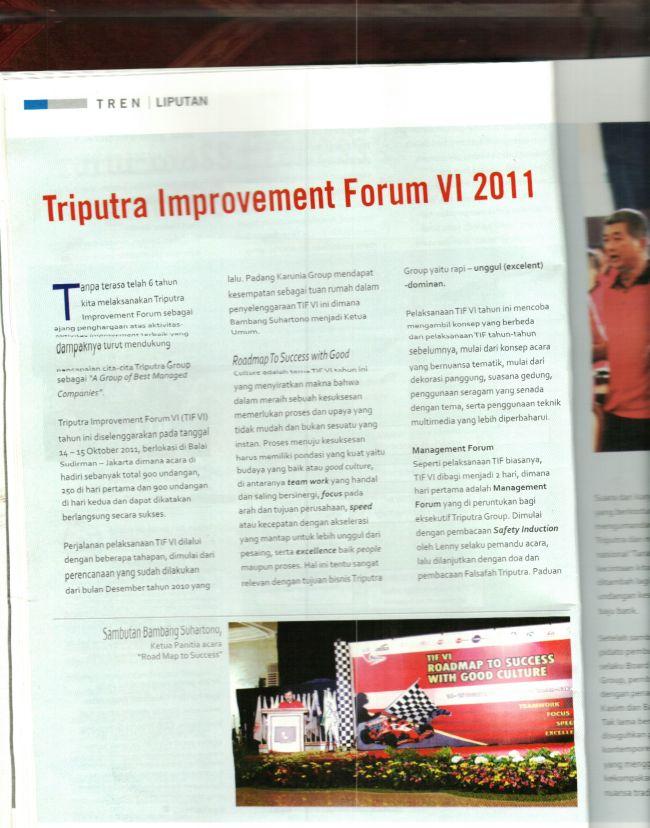 Trend - Edisi TIF VI 2011 , diketuai Bambang Suharotno