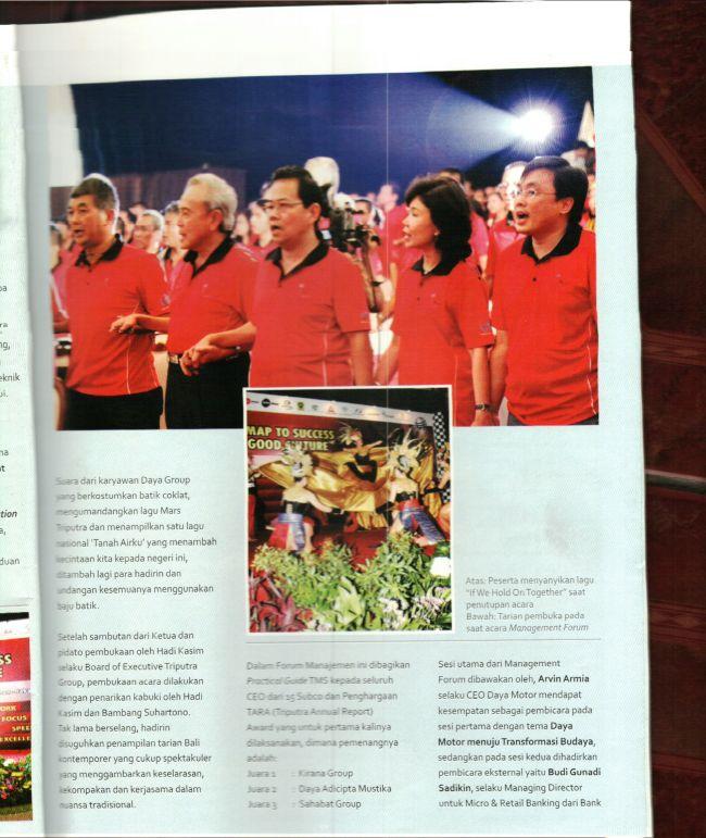Trend - Edisi TIF VI, foto dengan Pak Tedy P. Rahmat beserta , CEO dari beberapa sub co Triputra Group
