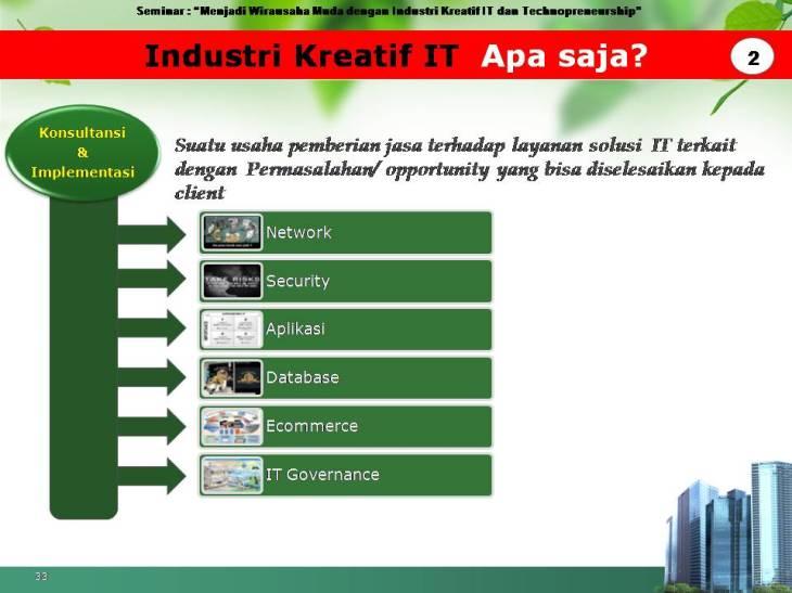 slide pekerjaan industri kreatif IT 2