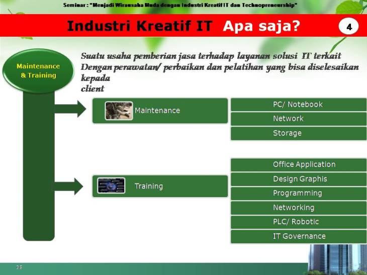 slide pekerjaan industri kreatif IT 4