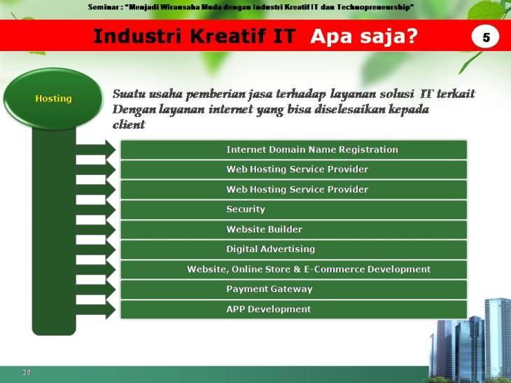 slide pekerjaan industri kreatif IT 5