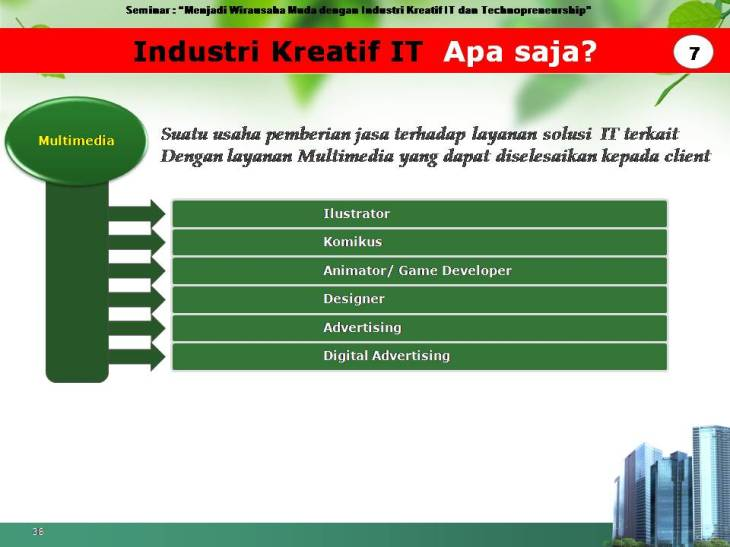 slide pekerjaan industri kreatif IT 7