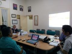 Pada Saat presentasi IT Audit di depan Jajaran Manajemen & Direktur RS. Pelni Jakarta , 2017